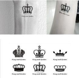 оптовый ковер наклейки Скидка Оптовая продажа-Бесплатная доставка секс Вы король королева клоуны запястье палец татуировки наклейки для временной татуировки #r120