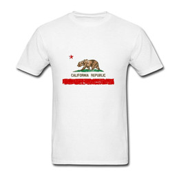 Wholesale Distressed Flag - Vintage Distressed California State Flag Funny new High Quality 100% Cotton men's T Shirt cheap sell Free shipping