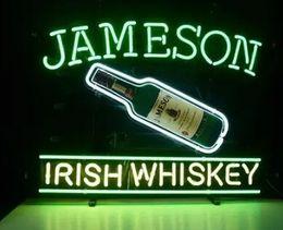 "Wholesale Irish Neon Bar Signs - New Jameson Irish Whiskey Glass Neon Sign Light Beer Bar Pub Arts Crafts Gifts Lighting Size 22"""