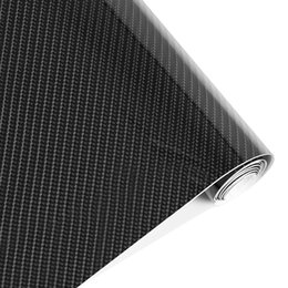 Wholesale High Gloss Black Vinyl Wrap - stickers coin Styling 152cm*30cm High Gloss 5D Black Carbon Fiber Vinyl Film Carbon Fibre Car Wrap Sheet Roll Film tools Car