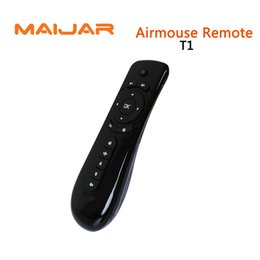 Wholesale Top Android Stick - Smart Air Mouse Remote T1 Mini Keyboard For Computer Android Smart Tv Box Set Top Box Media Player Pad Android Stick Game Consoles