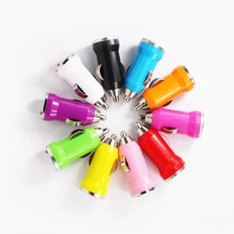 Wholesale 5v 1a Usb Adaptor - 500pcsColorful Mini 5V 1A USB Car Charger Power adapter adaptor for iphone 4 5 6 for samsung mp3 gps