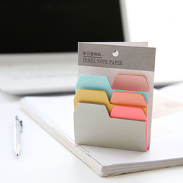 Wholesale Sticky Note Book - 12 Pcs Lot Index Note Sticky Notes Memo Pads Mini Color Stickers for Book Marker Office School Supplies 6 Color 90 Sheets