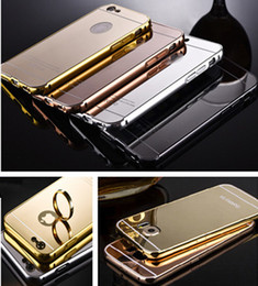 2017 de luxo de alumínio ultrafino espelho de metal pára-choques tomkas case capa pc quadro para iphone 7 6 6 s plus 5s samsung galaxy s6 s7 nota de borda 7 de Fornecedores de espelho de alumínio caso de metal