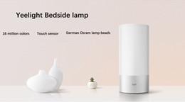 Argentina Al por mayor-Original Xiaomi Yeelight dormitorio luces de la noche 16 millones de control táctil RGB colorido de la lámpara de cabecera de apoyo teléfono App Control Suministro