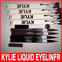 Wholesale Eyeliner Dhl - New Kylie Long Lasting Eyeliner Waterproof Black Brown Eye Liner Kylie Pencil Eyeliner Makeup tool by Kylie Jenner Cosmetics DHL free ship