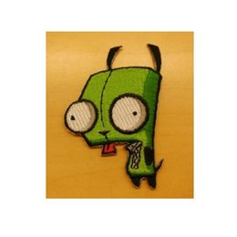 Wholesale Free Animated - Invader Zim Animated TV Series Gir Robot Figure punk rockabilly applique sew on  iron on patch Wholesale Free Shipping