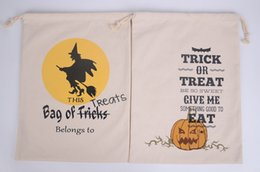 Wholesale Cloth Bags Candles - 2017 Halloween gift bags of cotton canvas bags custom shopping bags Spot DHL Fedex Free Shipping