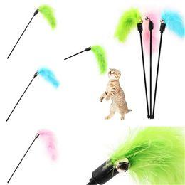 Wholesale Pure Toys - Random mixing Cat supplies interesting Pure color short bar Artificial wool Funny cat bar Funny cat toys IA604