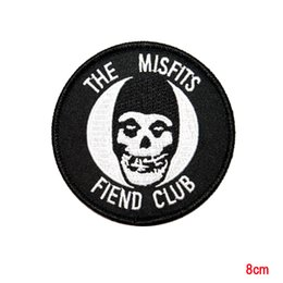 Wholesale Ghost Wholesale - The Misfits Fiend Club Ghost Horror Punk Band Mascot Iron On Applique Patch