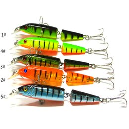 Wholesale Minnow Hard Baits - Free Shipping 10.5CM 9.6g 2 Sections Fishing Minnow Lure Artificial Bait Hooks Plastic Hard Bait Fishing Tackle
