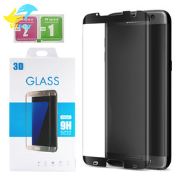 Wholesale Anti Surface - 3D Full Cover Round Curved Surface For Samsung Galaxy S7 Edge S8 Plus Note8 Screen Protector S7edge Case Free Friendly Tempered Glass