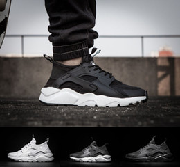 Wholesale Iv 11 - 2017 Original air Huarache 4 IV Mens Running Shoes Black White 9 colors top quality womens Sneakers Breathable Sports Shoes size US 5-11