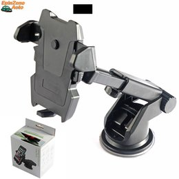Wholesale Mp3 Arms - 360 Degree Ratation Long Neck Arm Sucker Mount Suction Cup Mobile Phone Holder Auto Car Universal Cell Phone Stand For iPhone Samsung