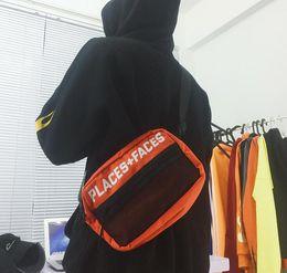 Wholesale Fashion Hip Belt Bag - 17ss Places + Faces Logo Cross Body Hip Bag Sup Pack Chest Pack Unisex Fanny Pack Waist Bag Men Canvas 3M reflective Belt P F travel luggage