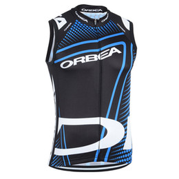 sleeveless women cycling jersey Promo Codes - Cycling Jerseys orbea Cycling Vest Men Outdoor Sports Shirt Tour De France Mtb Bicycle clothing bike sleeveless jersey cycle Gilet A1203