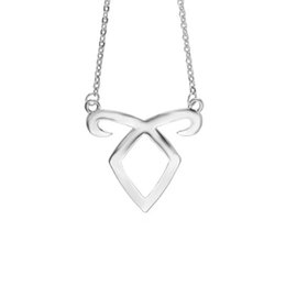 Wholesale Runes Mortal Instruments - New The Mortal Instruments City of Bones Angelic Power Rune Pendant Necklace with link Chain for Women Fashion Jewelry Drop Shipping