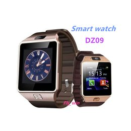 Wholesale Support For Camera - Smartwatch DZ09 Smart Watches Smart Watch With Camera Bluetooth WristWatch Support SIM TF Card Smartwatch For Ios android smart watch
