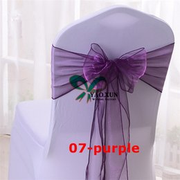 Wholesale Chair Sashes For Sale - Hot Sale Organza Chair Bow Chair Sash For Wedding Chair Cover