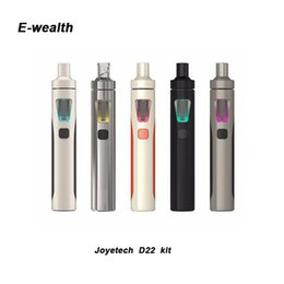 Wholesale Free Style System - Joyetech eGo AIO D22 Kit with 2ml e-Juice Capacity Being All-in-one Style & Newly Added Childproof Lock System 100% Original DHL Free
