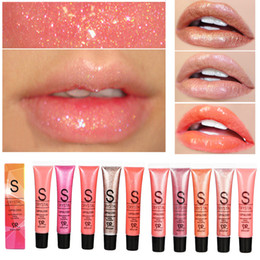Wholesale Glittered Lips - New Fashion Long Lasting Moisturizer Glitter Lip Gloss Tint Cosmetics Nutritious Shimmer Liquid Lipstick Beauty Lips Makeup