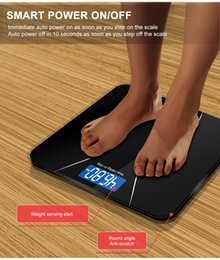 smart body scale Promo Codes - Smart Bathroom Body Scales Glass Household Electronic Digital Floor Weight Balance LCD Display 180KG 50G GASON A2 Wholesale
