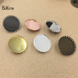 Wholesale Cabochon Brooch - BoYuTe 20Pcs Fit Round 25MM HOT Sale Cabochon Brooch Base Blank Tray Setting Diy Jewelry Accessories