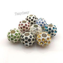 schemi di trasferimento di ferro liberi Sconti Perle di fascino europee completamente gioiello Perle di grandi dimensioni con strass colore misto Perle in rilievo placcato argento 24 pezzi / lotto