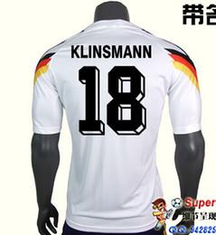 Wholesale Germany Black Jerseys - 1990 Germany Home Jersey best quality shirt Free shipping Retro away white MATTHAEUS German