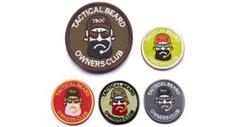 "Wholesale Quality Tactical Backpack - Free shipping Brand New 70 mm ""TACTICAL BEARD""""OWNERS CLUB""High Quality 3D embroidered badge Clothing Backpack Caps patches Morale Armband"