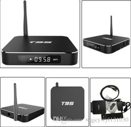 Wholesale Export Uk - S905 android 5.1 high-definition TV set-top box box T95 WiF 4 k I export network player