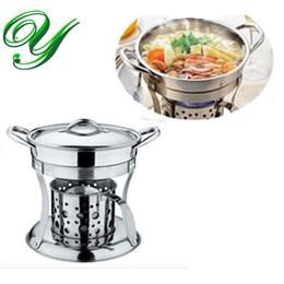 Fogão panela quente conjunto de fogão líquido Chafing Prato potes aquecedor que serve suporte inoxidável titular 18 cm Buffet pan server Bandeja de Comida Forno de aquecimento de Fornecedores de prato quente