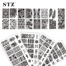 Wholesale Diy Nail Art Flowers - Wholesale- 10pcs Beauty BC Series 10 styles Nail Art Lace Flower Image Steel Plates DIY Stamping Plates Nail Art Templates Stencils BC01-10