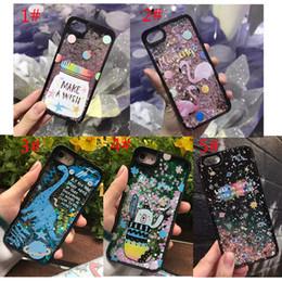 Wholesale Transparent Plastic Candy Case - Luxury Glitter Star Quicksand Phone Case For iPhone 7 6 6s Plus Glitter dinosaur bear flamingo candy jar Liquid sand