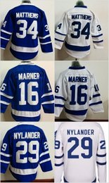 Wholesale Red Leafs - Youth Kids 34 Auston Matthews Jersey Toronto Maple Leafs 16 Mitchell Marner 29 William Nylander Stitched Embroidery Logos Hockey Jerseys