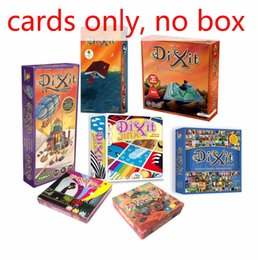 Wholesale Big Plastic Paper - dixit English board game,basic quest odassey origins journey daydreams memories revelations playing card jogo dixit dixit juego