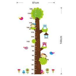 Wholesale Owl Wall Stickers For Nursery - Cd003 new owl monkey tree children room bedroom background kindergarten height stickers