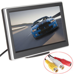 Wholesale Video Camera Definition - 2 Ways Video Input 5 Inch TFT LCD Display 480 x 272 Definition Digital Panel Color Car Rear View Monitor For Rearview Camera