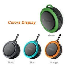 Wholesale Speaker Roof - Mini Wireless C6 Bluetooth 3.0 Wireless Speakers IPX7 Outdoor Sports Shower Waterproof Speaker Wireless Bluetooth roof Shower