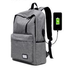 Wholesale Designers Notebook - New Design USB Charging Men's Backpacks Male Casual Travel women Teenagers Student School Bags Simple Notebook Laptop designer backpacks