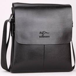 Wholesale Kangaroo Bag Men - Designer Leather Messenger Bag Male Vintage Crossbody Best Over The Shoulder Bag Kangaroo Brand Mens Bags For Work College Business Bolsas