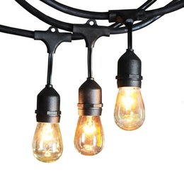 Wholesale Water Proof Led Christmas Lights - 48ft 15sockets Outdoor Water Proof Commercial Patio Industrial Edison String Lights outdoor lighting patio string light