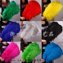 Wholesale Dyed Feathers Wholesale - Ostrich Feathers Factory Custom Decorative Dyeing For The Wedding Stage White Animal Hair Garment Accessories Feather Craft 0 4hx R