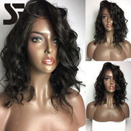 Wholesale Wavy Wigs For Black Women - 100% Human Hair Bob Wigs With Natural Hairlines And Baby hairs Pre Plucked Glueless Loose Wavy Brazilian Virgin Hair Wigs For Black Women