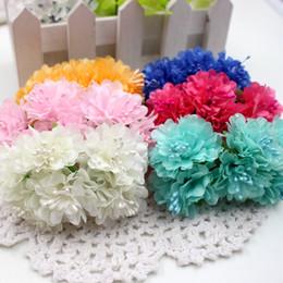 Wholesale Fake Black Flowers - Wholesale-12pcs lot Silk Stamen Daisy Artificial Flower Bouquet For Wedding Decoration DIY Scrapbooking Decorative Wreath Fake Flowers