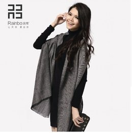 Wholesale United States Scarf - Rainbo 2016 new style OL pure wool Scarf autumn and winter shawl pashmina fashion style Europe and the United States women's style
