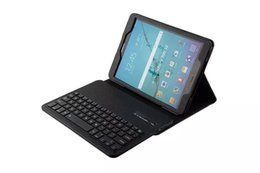 Wholesale Galaxy Tab Wireless Keyboard - Sample   For Galaxy tab s2 T810 Leather Stand case and Detachable Wireless Bluetooth Keyboard for Galaxy tab s2 T810 T815c 9.7inch tablet PC