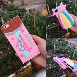 Wholesale Mobile Phone Chocolate - New Summer Case Colorful Rainbow Chocolate Soft Silicone Gel Mobile Phone case For iphone 7 i7 7 plus 6 6S 6G 6 Plus