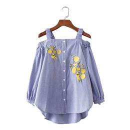 Wholesale Blouse Korean Designs - Fashion Womens Cold Shoulder Plaid Shirt Japanese Korean Sling Blouse Top,new fine design Lady summer Square NeckTee tops