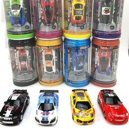 детские игрушки для мальчика Скидка 1:63 Mini-Racer Пульт дистанционного управления Car Coke Can Mini RC Радио Пульт дистанционного управления Micro Racing Car Смешанный цвет